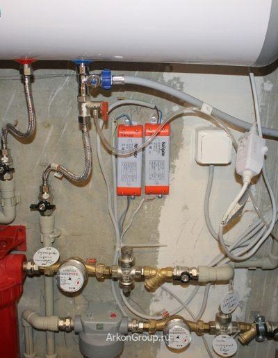 Монтаж водонагревателя, фильтров для воды, блоков питания светодиодной подсветки.