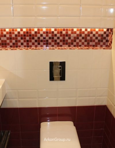 Светодиодная подсветка полки-ниши в туалете
