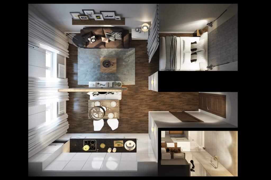 ремонт однокомнатной квартиры 30 метров