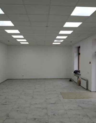 Монтаж подвесного потолка, светодиодного освещения