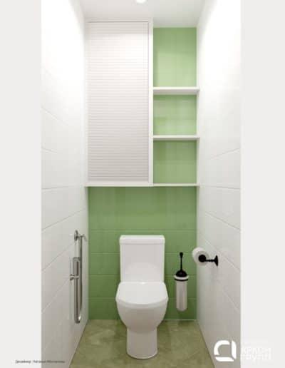 ЖК Пять Звезд, 1к, туалет