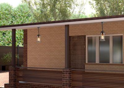 Проект благоустройства частного дома в с. Хава