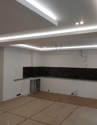 Светодиодная подсветка, многоуровневый потолок